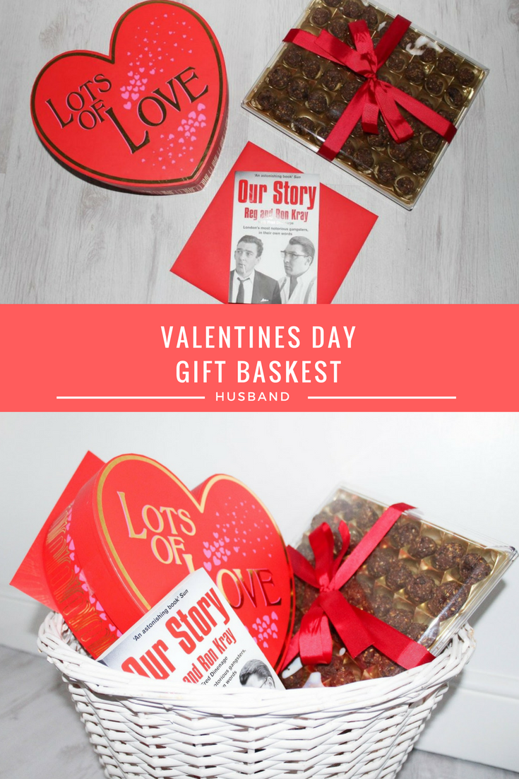 Valentines Day Gift Basket - Husband - Roseyhome - gift basket, valentines, husband, present, celebration