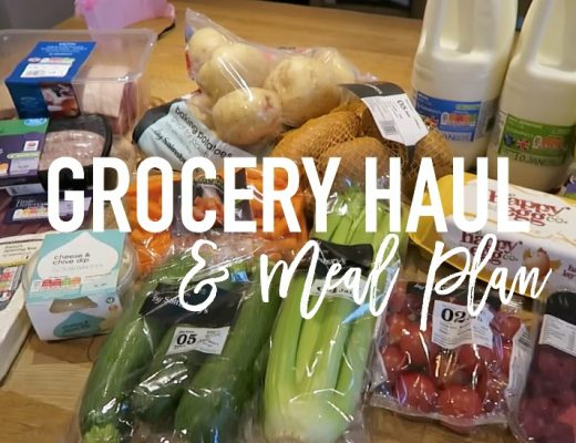 Grocery haul and Meal Plan - 2nd January 2017 - Roseyhome - food, grocery haul, sainsburys, meal inspiration, meal plan, family food