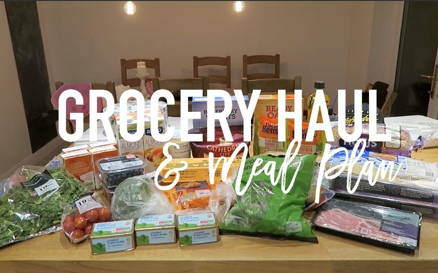 Grocery haul and Meal Plan - 16 January 2017 - Roseyhome - food, grocery haul, sainsburys, meal inspiration, meal plan, family food