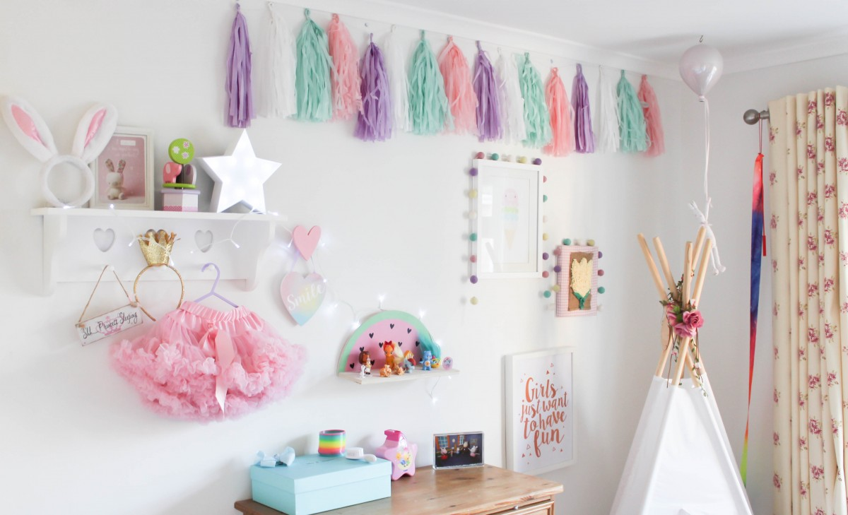 Pastel Toddler Girl Room Inspiration - Roseyhome - girls room, toddler room, interiors, decor, home, pastel, girl, toddler