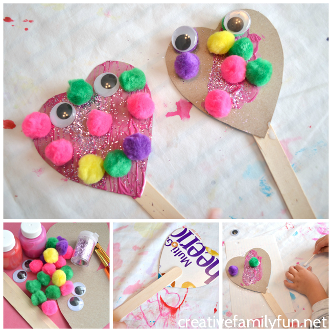 Easy valentines day craft ideas for toddlers roseyhome for Valentines day toddler crafts