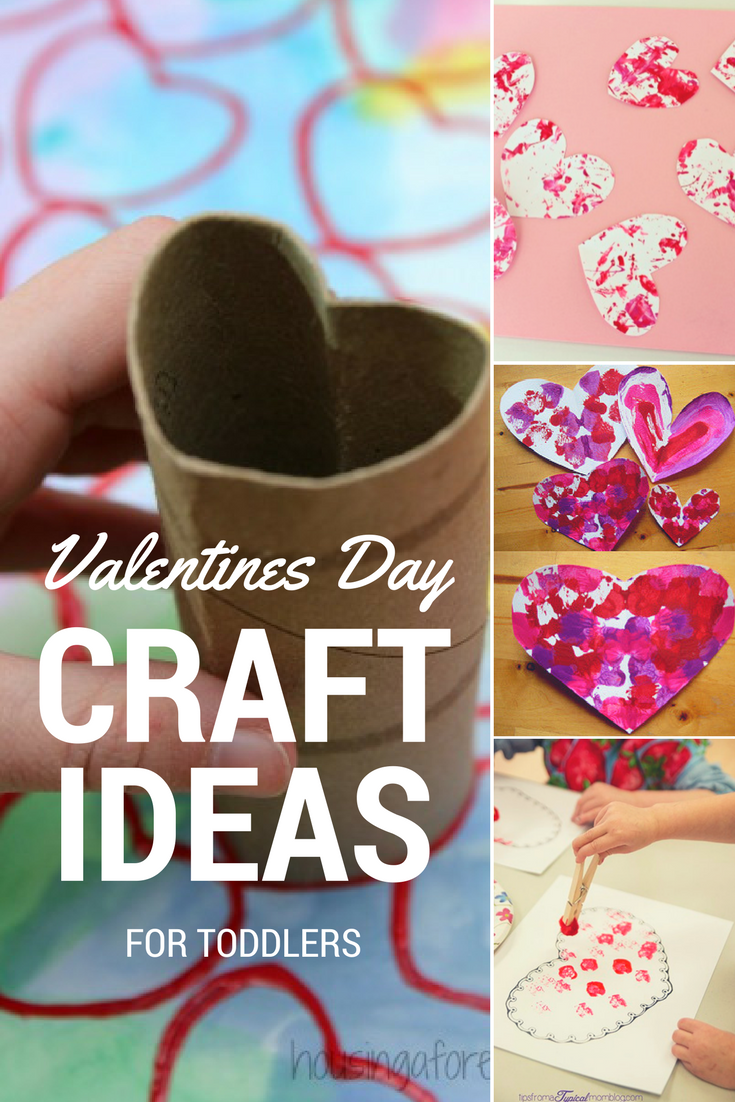 Easy valentines day craft ideas for toddlers roseyhome for Toddler valentine craft ideas