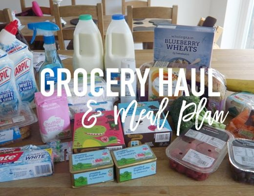 Grocery Haul and Meal Plan - 6th March 2017 - Roseyhome - grocery haul, meal plan, meal inspiration, toddler meals, healthy, feeding a family