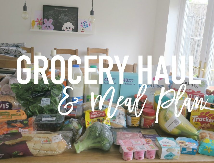 Grocery Haul and Meal Plan - 17th April 2017 - Roseyhome - grocery haul, meal plan, meal inspiration, toddler meals, healthy, feeding a family