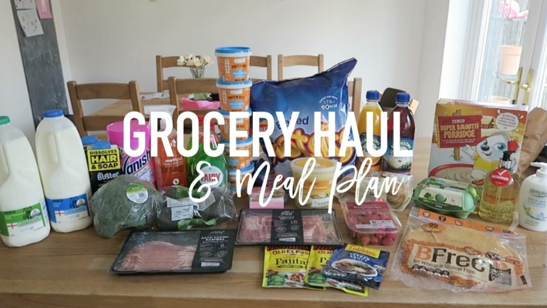 Grocery Haul and Meal Plan - 3rd April 2017 - Roseyhome - grocery haul, meal plan, meal inspiration, toddler meals, healthy, feeding a family