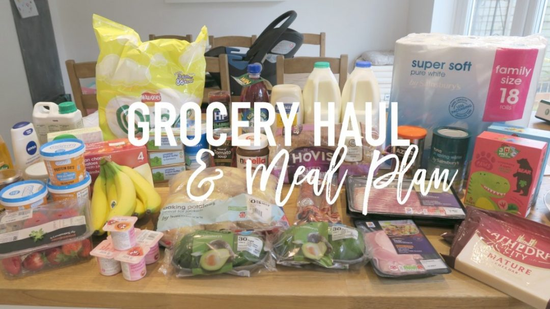 Grocery Haul and Meal Plan - 1st May 2017 - Roseyhome - grocery haul, meal plan, meal inspiration, toddler meals, healthy,