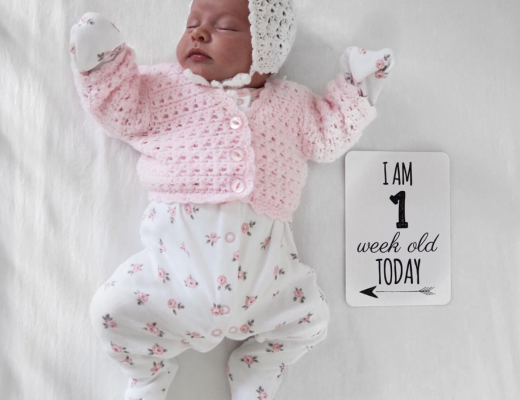 Maeve's first week update - Roseyhome - baby update, postpartum update, baby, newborn, 1 week update, first week update