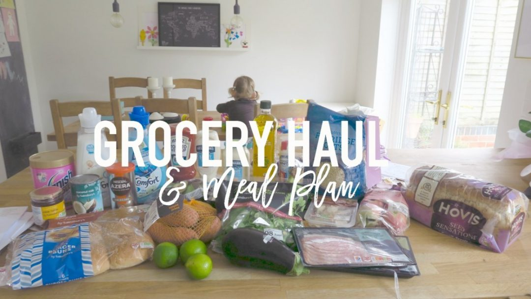 Grocery Haul and Meal Plan - 5th June 2017 - Roseyhome - grocery haul, meal plan, meal inspiration, toddler meals, healthy