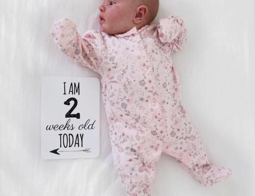 Maeve's 2 week update - Roseyhome - baby update, postpartum update, baby, newborn, 2 week update, second week update