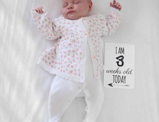 Maeve's 3 week update - Roseyhome - baby update, postpartum update, baby, newborn, 3 week update, second week update
