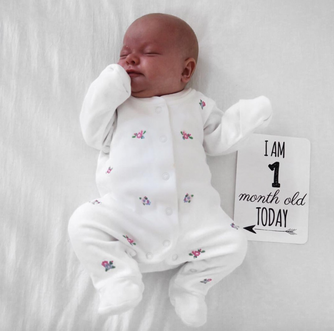 Maeves 1 month baby update roseyhome
