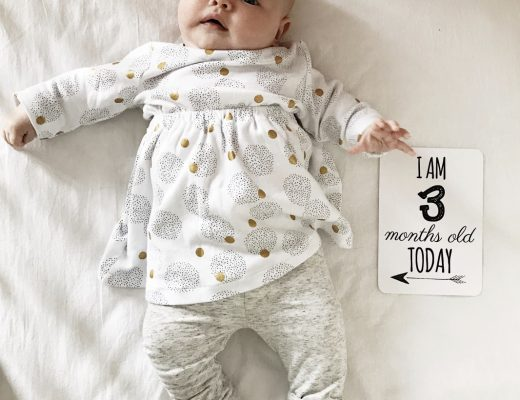 Maeve's 3 month Baby update - Roseyhome -baby update, postpartum update, baby, newborn, 3 month update, three month update