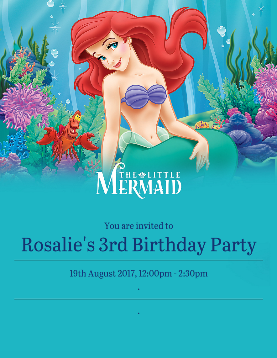 How to plan the best little mermaid themed party - Roseyhome