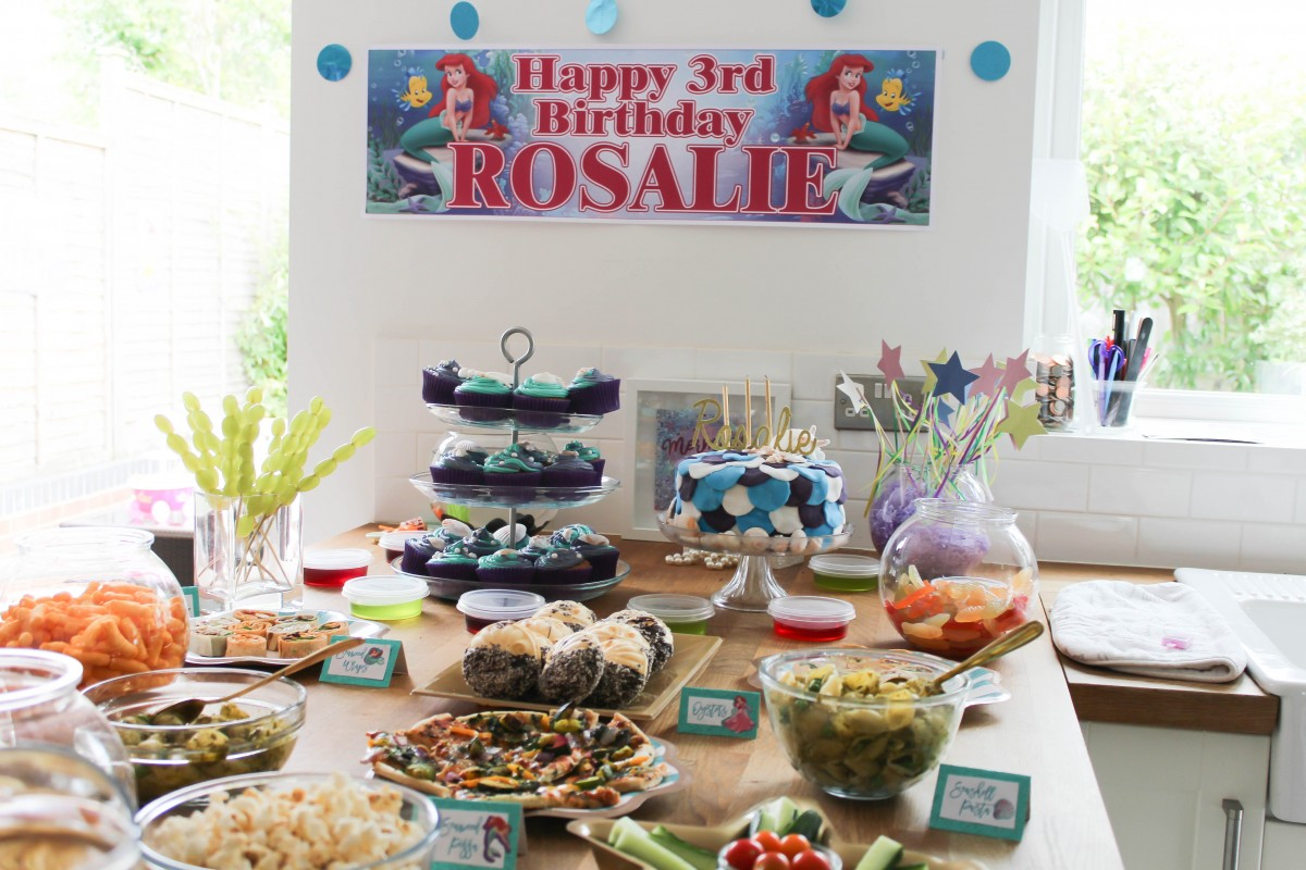 Rosalie's 'the little mermaid' 3rd Birthday Party - Roseyhome - the little mermaid party, birthday party, 3rd birthday, kids party, party decor, decor haul, mermaid party, under the sea party, party, decor, decorations, the little mermaid, disney