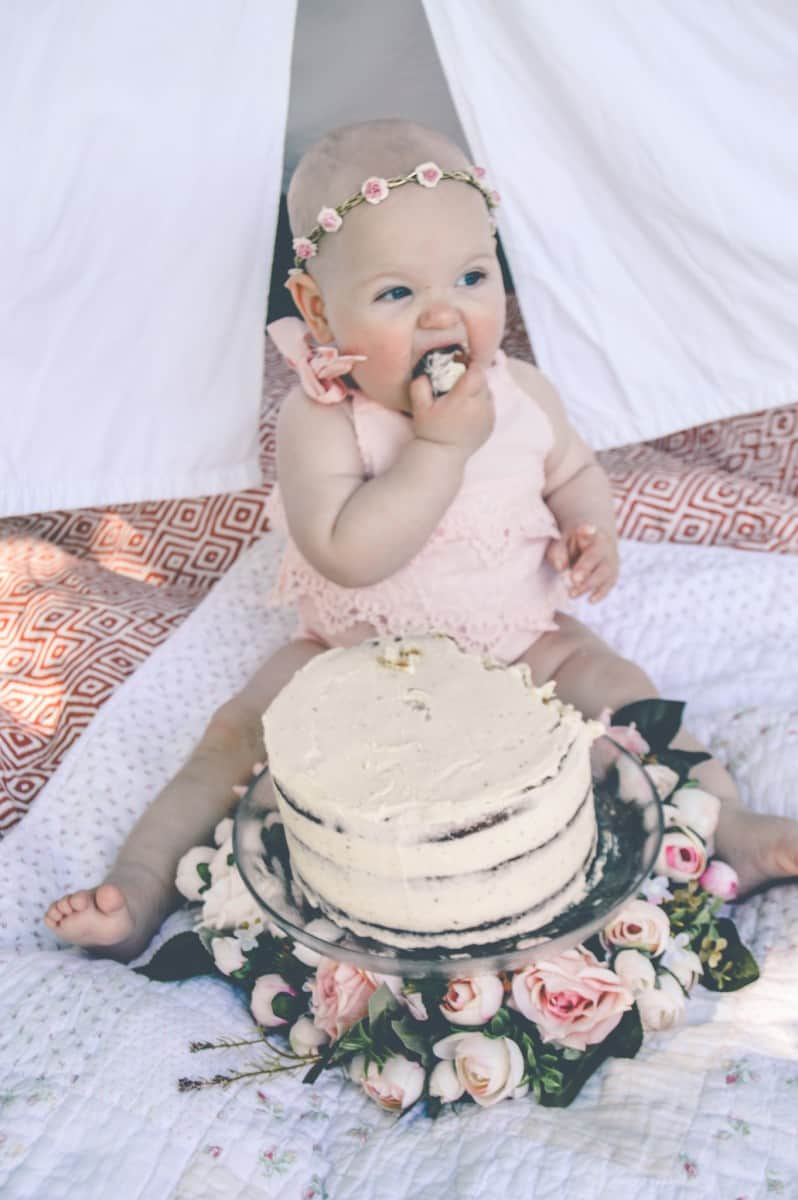 1st Birthday Cake Smash - Roseyhome - birthday, first birthday, 1st birthday, cake smash, floral, boho