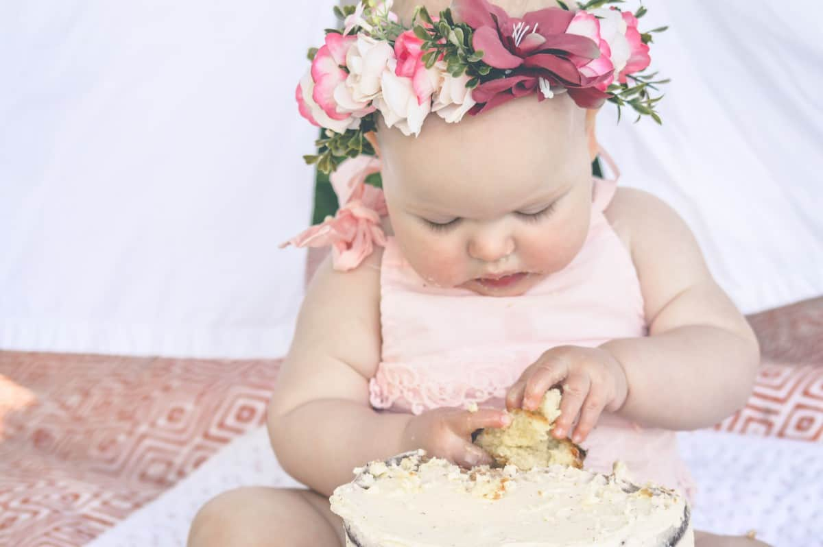 1st Birthday Cake Smash - Roseyhome - birthday, first birthday, 1st birthday, cake smash, floral, boho