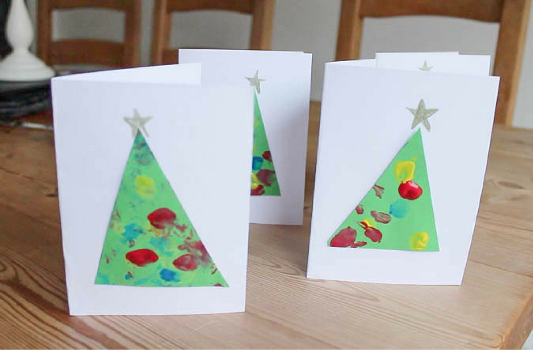 Toddler Friendly Christmas Cards - Roseyhome - craft, toddler, christmas, advent, baby, toddler friendly