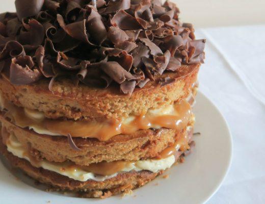 Banoffee Celebration Cake - roseyhome - cake, baking, party, celebration cake, celebration, treat, christmas