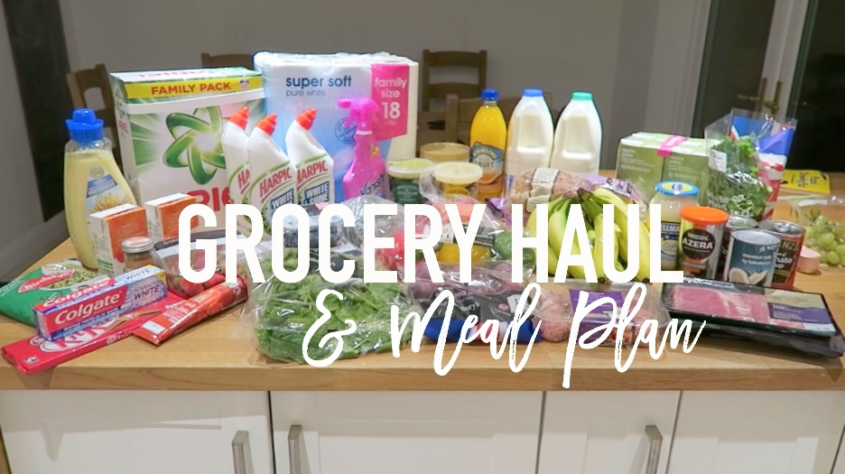 Grocery haul and Meal Plan - 9th January 2017 - Roseyhome - food, grocery haul, sainsburys, meal inspiration, meal plan, family food