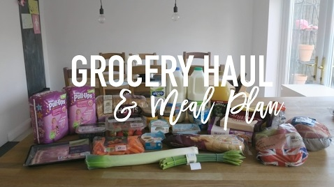 Grocery Haul and Meal Plan - Roseyhome - grocery haul, meal plan, meal inspiration, toddler meals,, healthy, feeding a family