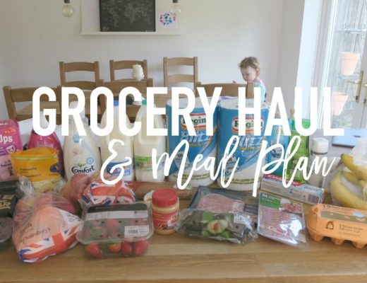 Grocery Haul and Meal Plan - 10th April 2017 - Roseyhome - grocery haul, meal plan, meal inspiration, toddler meals, healthy, feeding a family