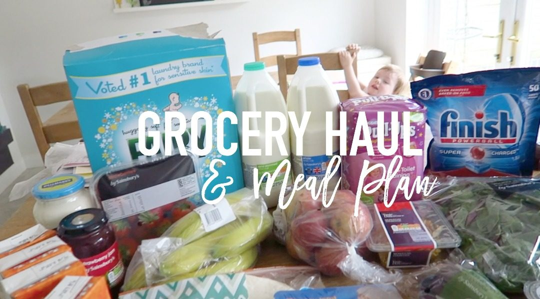 Grocery Haul and Meal Plan - 24th April 2017 - Roseyhome - grocery haul, meal plan, meal inspiration, toddler meals, healthy,