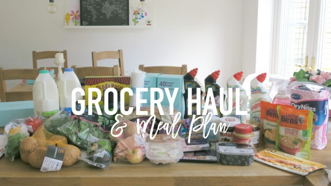 Grocery Haul and Meal Plan - 11th June 2017 - Roseyhome - grocery haul, meal plan, meal inspiration, toddler meals, healthy