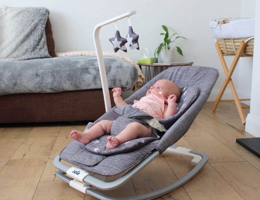Joie Dreamer Baby Bouncer Review - Roseyhome - bouncy chair, bouncer, review, baby, newborn, baby items, baby seat, joie, rocker