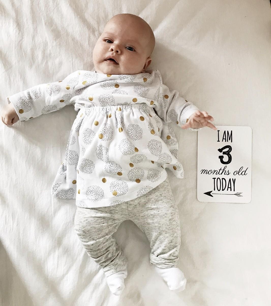 Maeve's 3 month Baby update - Roseyhome -baby update, postpartum update, baby, newborn, 3 month update, three month update
