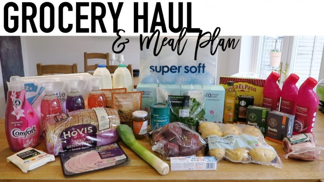 Grocery Haul and Meal Plan - 25th September 2017 - Roseyhome - grocery haul, meal plan, meal inspiration, toddler meals, healthy, weight loss