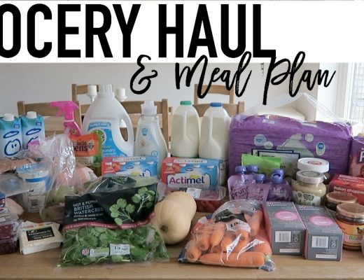 Grocery Haul and Meal Plan - 18th September 2017 - Roseyhome - grocery haul, meal plan, meal inspiration, toddler meals, healthy, weight loss