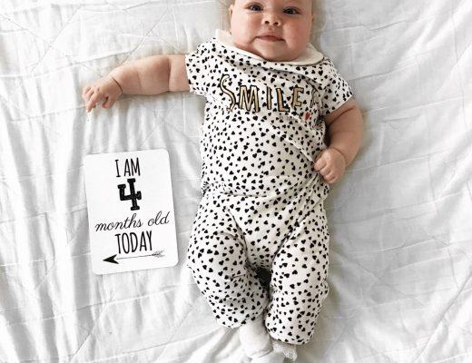 Maeve's 4 month Baby update - Roseyhome -baby update, postpartum update, baby, newborn, 4 month update, four month update