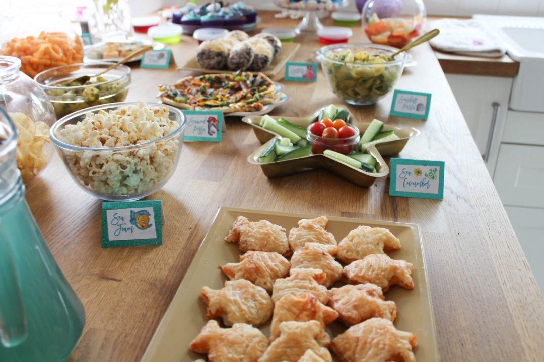 little mermaid themed kids party food - Roseyhome - food, party food, kids party food, little mermaid party food, the little mermaid party, birthday party, 3rd birthday, kids party, party decor, decor haul, mermaid party, under the sea party, party, decor, decorations, the little mermaid, disney