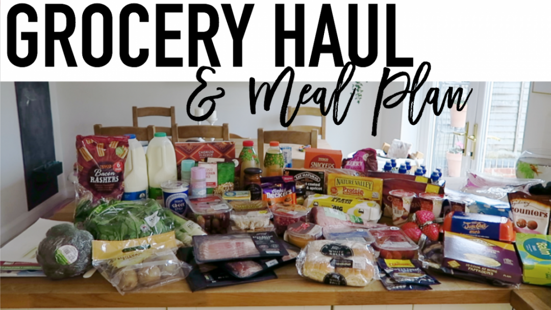 Grocery Haul and Meal Plan - 2nd October 2017 - Roseyhome - grocery haul, meal plan, meal inspiration, toddler meals, healthy, weight loss