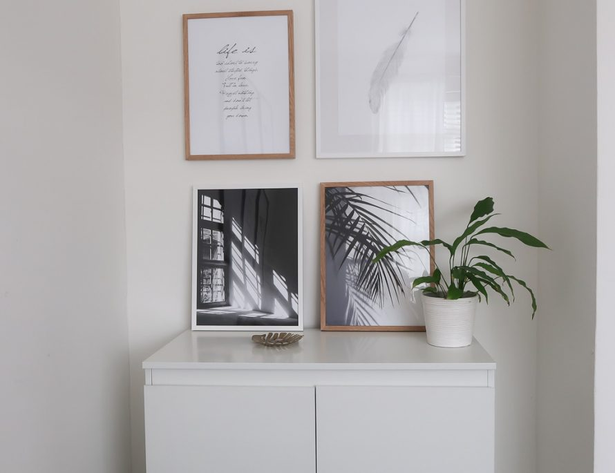 how to style an awkward space - roseyhome - desenio, prints, scandi style, styling, prints, gallery wall